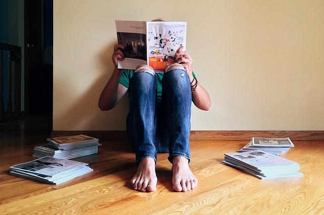 reading magazines