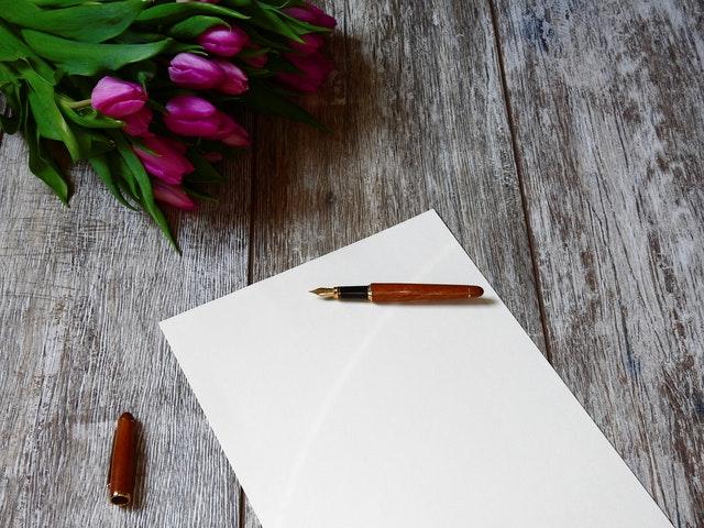 writing card